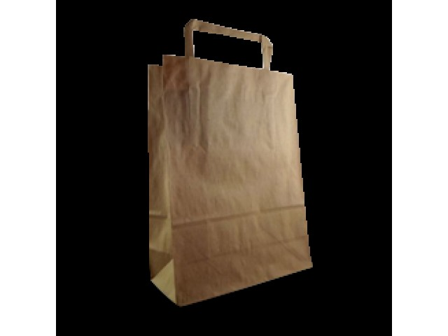 No 60 Flat Fold Handle Paper Bag Brown