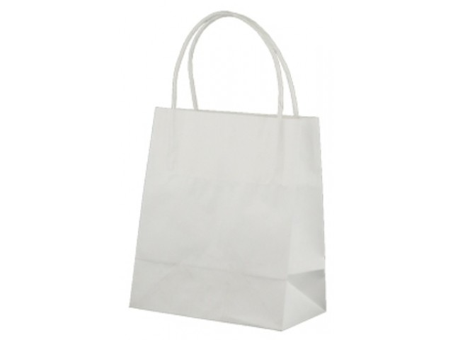 Twist Handle Paper Bag WHITE Carton/500