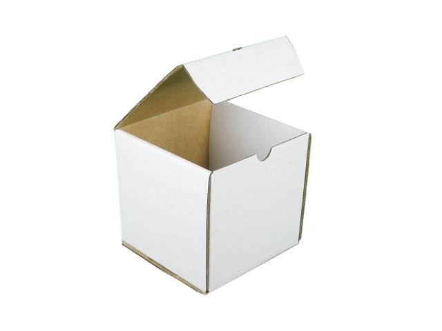 Cube Box with Hinged Lid