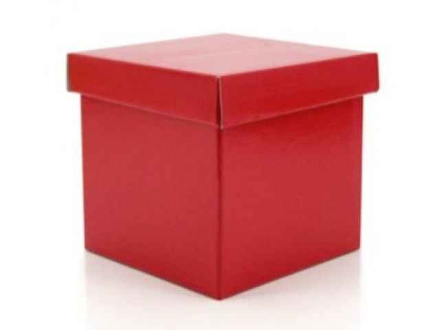 Gift Box & Lid   (Gloss) Red