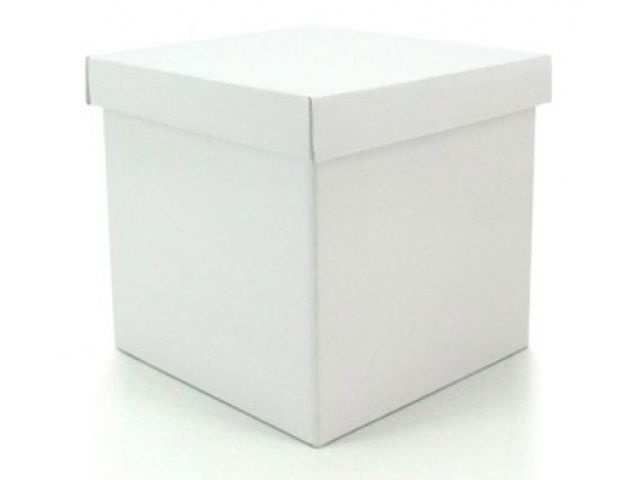 Gift Box & Lid (Gloss) White