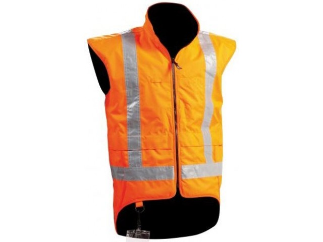Sou Wester (Fleece Lined) Hi Vis Vest EXTRA LARGE