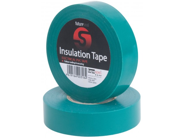 PVC Insulation Tape (GREEN) 18mm x 30m Roll