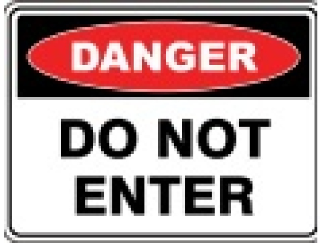 "H&S Sign ""Danger"" Do Not Enter"