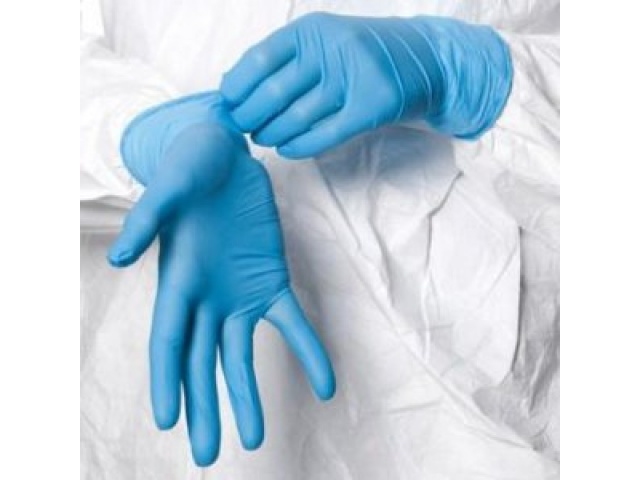 Gloves Disposable Blue Arm Length