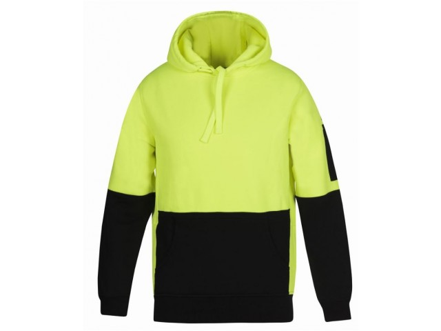 Hi Vis Hoodie (Pull Over) Day Only - LIME/BLACK