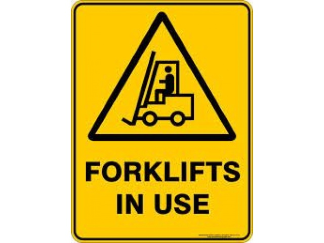 H&S Signage Forklifts in Use