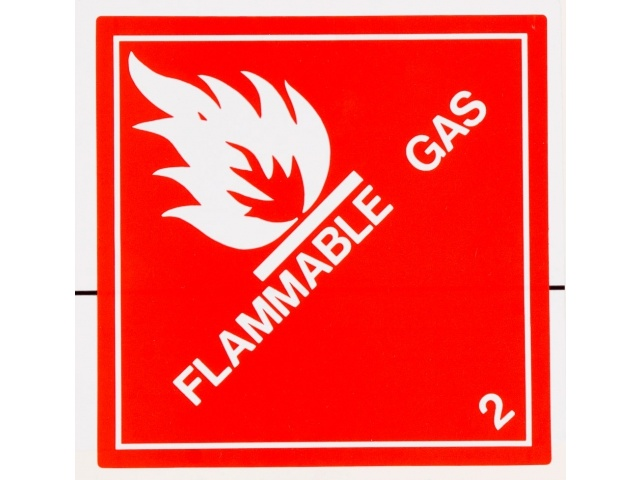 RIPA Label Non Flammable Compressed Gas *2