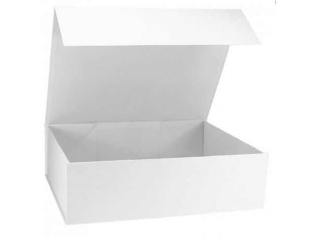 Magnetic Close Gift Box Large Rec 490x300x130 White Packaging Products
