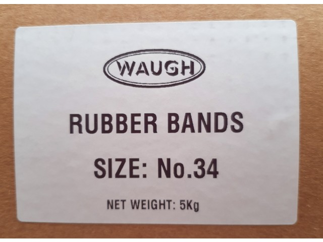 No 34 Rubber Bands (5KG Box)