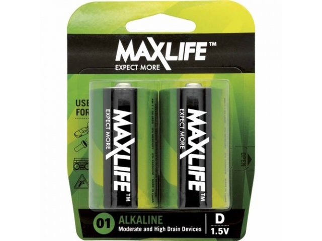 Battery D Max Life Alkaline
