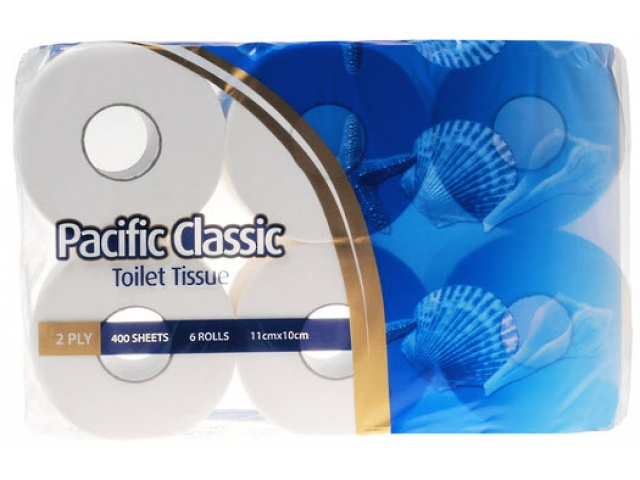 Pacific Classic 2 Ply Toilet Roll 6 Pack