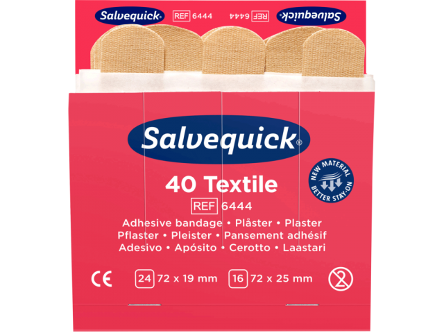 Salvequick Plaster Refill (Textile/Fabric) Sleeve/40