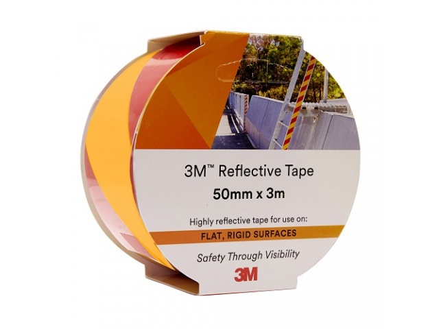 Tape Reflective 50x3m YELLOW/RED