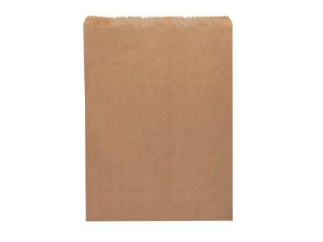 Flat Brown Paper Double Bottle Bag