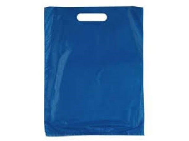 Navy Polythene Carry Bags SMALL 60mu