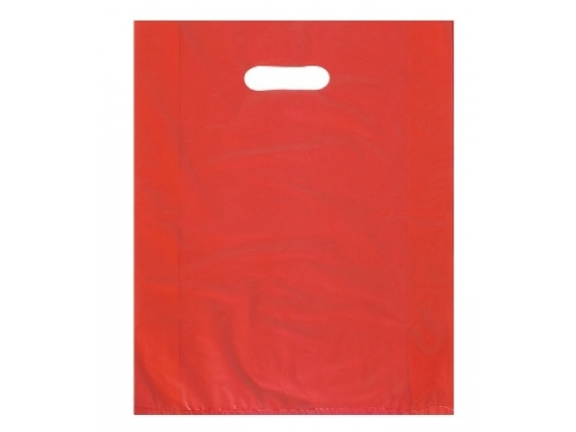 Red Polythene Carry Bags SMALL 60mu