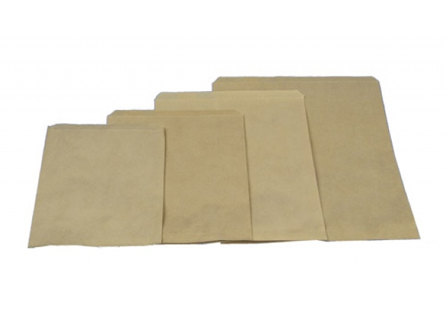 No 8 Flat Brown Paper Bag
