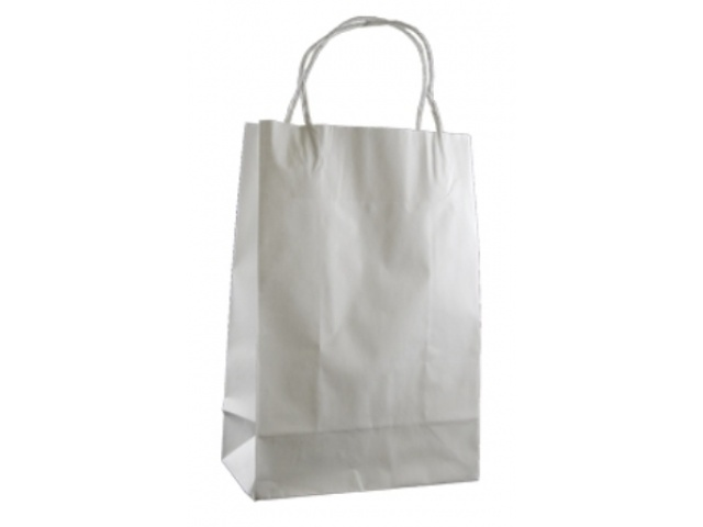 Twist Handle Paper Bag WHITE Carton/250