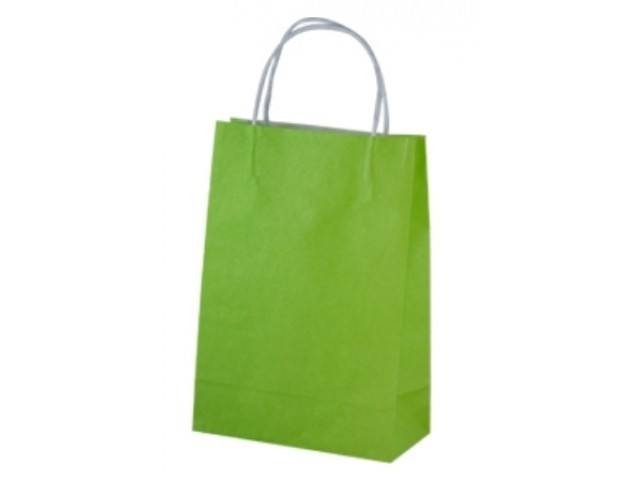 Twist Handle Paper Bag LIME Carton/250