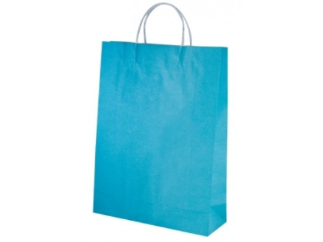 Twist Handle Paper Bag BLUE Carton/250