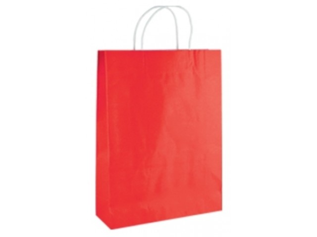 Twist Handle Paper Bag RED Bundle/10