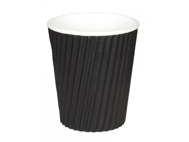 Ripple Wrap Hot Cup Black