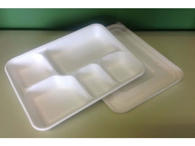 5 Compartment Food Tray & Lid