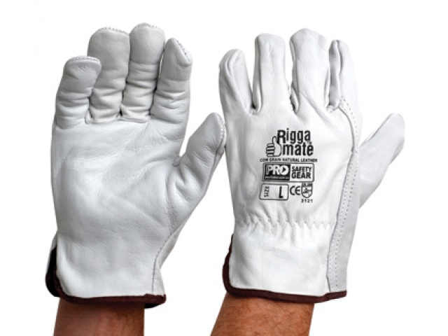 Riggamate Cow Grain Natural Leather Glove