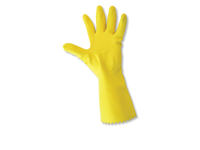 Large Yellow Household Rubber Gloves (Pack/10)