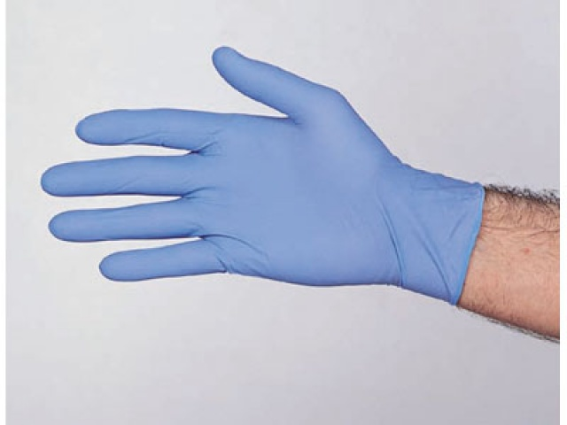 **LIMITED STOCK** Extra Large Blue Nitrile Hytec Gloves POWERFREE (Pack/100)