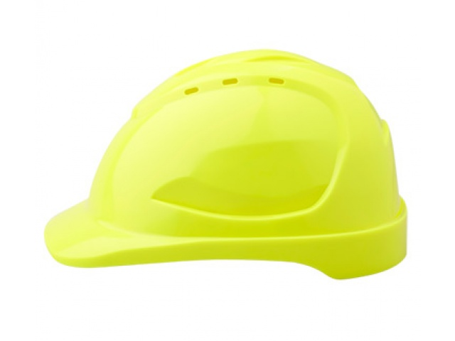 V9R Vented Hard Hat with Ratchet Harness FLURO YELLOW