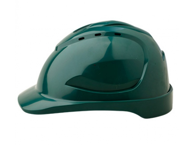 V9R Vented Hard Hat with Ratchet Harness GREEN