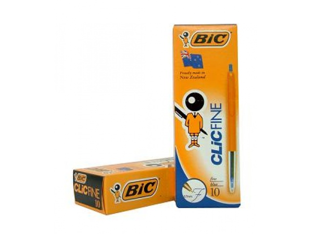 Bic Clic Fine Point Blue Pen