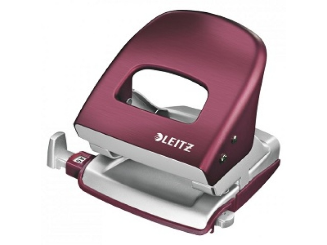 Leitz Metal Hole Punch Burgandy