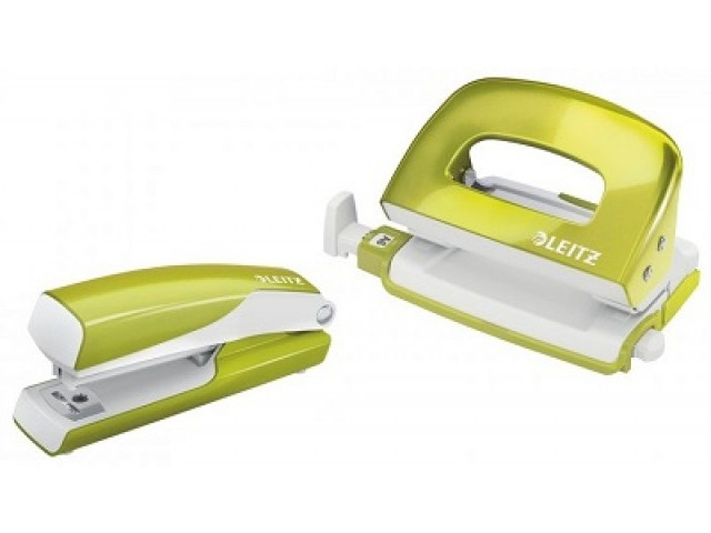 **LIMITED STOCK** Leitz Mini Metal Stapler Punch Set Green