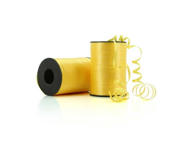 Curling Ribbon Crimped Yellow