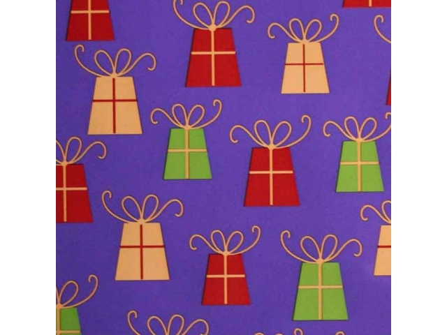 Gift Wrap Prezzies Print Purple