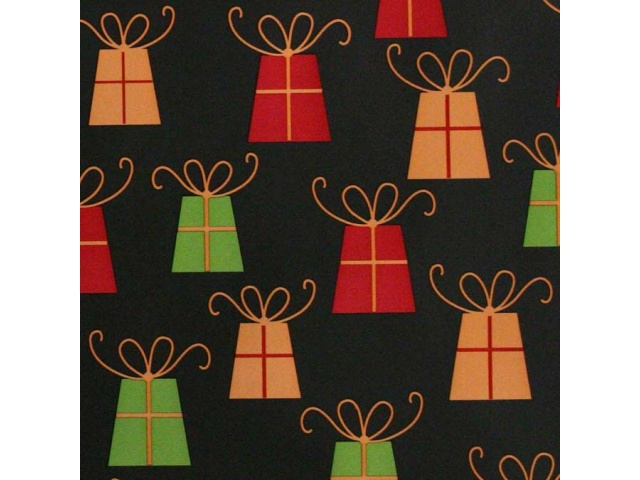 Gift Wrap Prezzies Print Black