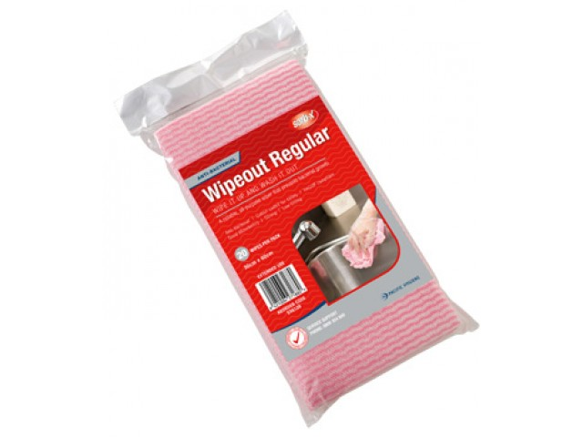 Wipeout Regualr Wipes Pink (Chux multi) Retail Pack/20