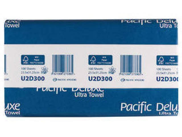 Pacific Deluxe 2 Ply Hand Towel Embossed Carton/12 Packs